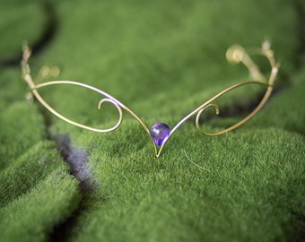 Elven circlet elf crown silver gold tiara with leaves