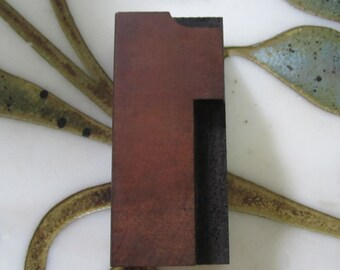 Number One 1 Antique Letterpress Wood Type Printers Block