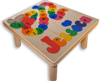 NAME PUZZLE STOOL | Alphabet