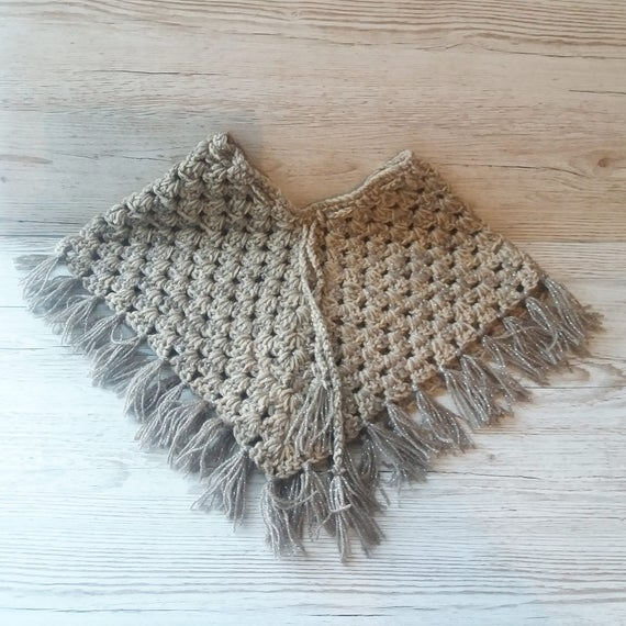 Crochet Poncho Pattern, Baby Poncho Pattern, GIrl\'s Poncho Pattern ...