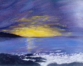 Original seascape paintind, art gift