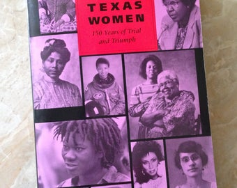 "Black History Book on Race, African American Experience of Black Women, ""Black Texas Women"" Vintage Book, First Edition"