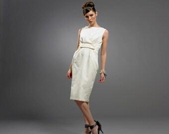 Audrey Hepburn inspired Damask dress