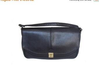 Vintage leather women bag black genuine leather