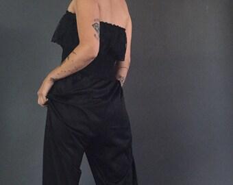 Vintage 80s Undercover Wears Lacey Sleeveless Onesie