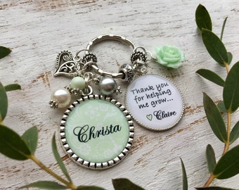 Babysitter Gift Nanny Gift Aunt Gift Day Care Personalized Teacher Gift Preschool Teacher Christmas Appreciation Gift Personalize Keychain