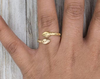 Adjustable West Indian Bangle style Ring made in 10Kt Yellow Gold