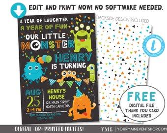 Monster 1st birthday Etsy