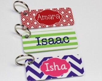 Monogram Key Ring - Personalized Bag Tag - Small Bag Tag - Backpack Tag - Lunchbox Tag - Personalized Tag - Keychain