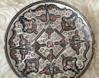 Unique Copper carved decorative plate