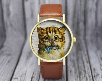 Kitten with Doll Watch | Cat Watch | Womens Watch | Ladies Watch | Gift for Her | Birthday | Wedding | Gift Ideas | Fashion Accessories