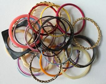 Bangle Lot, 30 Craft Bangles, Bulk Bracelets, Jewelry Lot, Bracelet Lots, Bangle Forms, Craft Bracelets, Bracelet Hardware, Artwear Elements