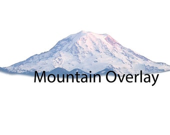 Real Mountain, Digital File, Mt Rainer, Clip art, digital file download, instant Download, Mountain , Photoshop overlay, Png file