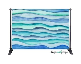 Blue Ocean Waves - Photography Backdrop