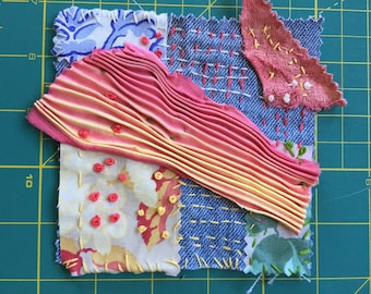 Vintage Denim Jeans Patch (C)  for Clothing, Bags, Quilts, Story Art Upcycling Collage