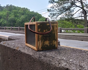 Vintage Cricket Box, Fishing Bait Box, fishing decor,