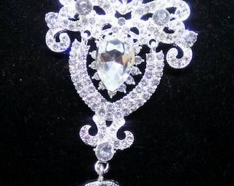 Brooch large crystals