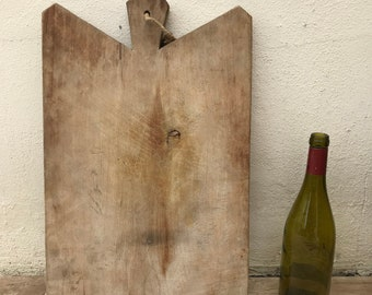 ANTIQUE VINTAGE FRENCH bread or chopping cutting board wood 07061817