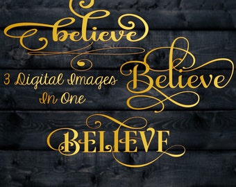 Believe Duo, Christmas Svg,Dxf,Png,Jpeg