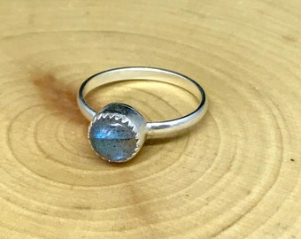 Labradorite Sterling Silver Stackable Ring
