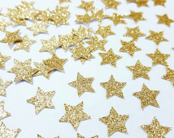 Gold Glitter Star Confetti | Bridal Shower Decor | Birthday Party Decorations | Wedding Decorations | 1st Birthday Party | Twinkle Twinkle