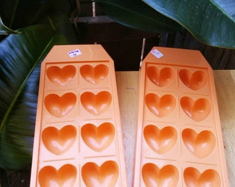 Vintage heart shaped ice trays.