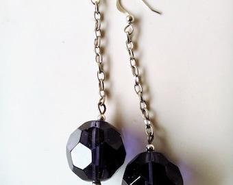 Handmade earrings, JEWERLY SUMMER, violet earrings, woman gift