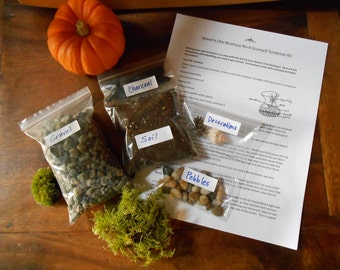 The kit diy terrarium kit all you need is the container do it yourself terrarium kit large x large or xx large kit without container for 7 12 diameter terrariums solutioingenieria Images