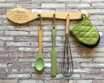 Personalized Utensil Holder, Utensil Caddy, Baking Gifts, Grandma Gift, Personalized Wooden Spoon