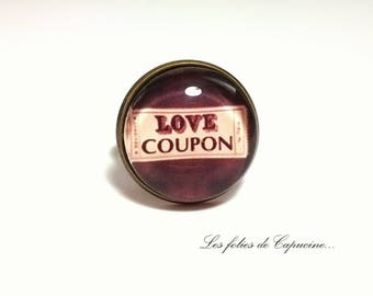 cabochon glass •love coupon•