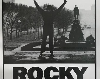 Wall Art, Movie Poster, Rocky, Sylvester Stallone, black and white, 24 x 36 poster