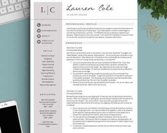 Creative Resume Template For Word U0026 Pages | 1, 2 And 3 Page Resume Template