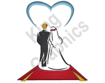 Bride And Groom - Machine Embroidery Design