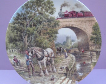 Vintage Wedgwood collectible plate Over the Canal by John Chapman