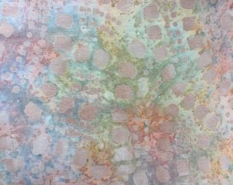 Textile Creations Batik Fabric Peach 1.5 yard cut