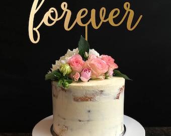 Forever Wedding Cake Topper, Forever Keepsake Wedding Cake Topper