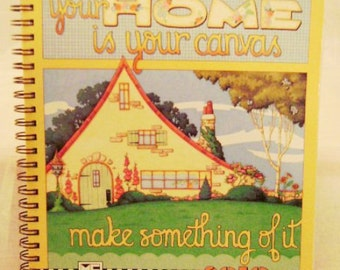 """Mary Engelbreit 2010 """"Your Home is Your Canvas. Make Something of It"""" Engagement Desk Calendar"""