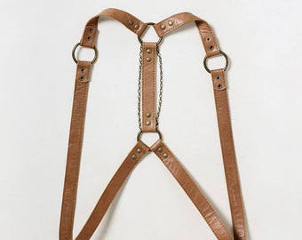 Leather harness, belt, body harness, custom, leather body harness, gift for her, girlfriend gift, fashion harness, military, boho