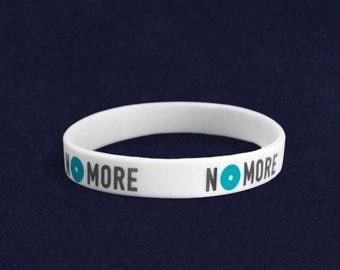 No More Domestic Violence Silicone Bracelet (RE-SILB-NM)