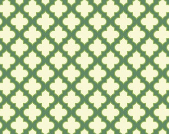 Trellis Loden Green - Up Parasol,  Heather Bailey PWHB045  100% Quilters Cotton Available in Yards, Half Yards and Fat Quarters