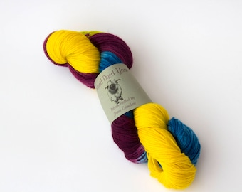 """Pot Luck colorway on my """"Comfort"""" base/434 yards of fingering weight"""