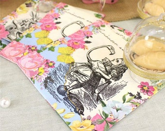 Alice in wonderland,Truly Alice Napkins - 25cm,shabby chic,mad hatter,tea party,wedding,tableware,china look