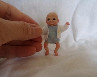 Ooak doll, one of a kind doll, handmade baby boy, dollhouse,polymer clay, handsculpt art doll, artist Doll