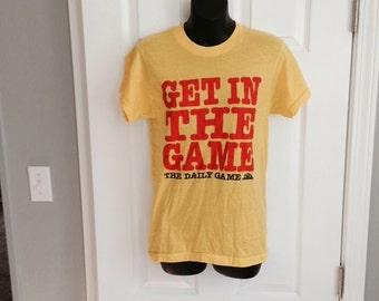 Vintage 1980s Michigan State Lottery t-shirt Screen Stars 50/50