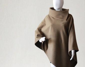 Cashmere poncho, camel poncho, women's coat, wool coat, women's poncho, women's cape, wool poncho, women's sweater, cashmere sweater, poncho