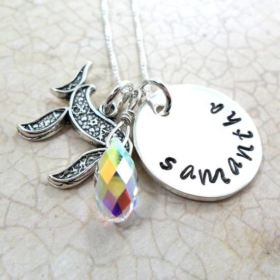 Bat Mitzvah Gift   Jewish Girl Necklace   Jewish Girl Jewelry   Name Plate Jewelry   Judaica   Chai Jewelry   Personalized Name Jewelry