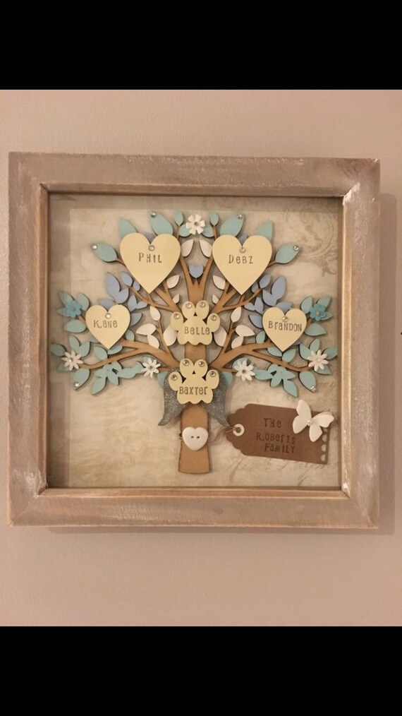 Marco de árbol, árbol madera, árbol genealógico personalizado ...