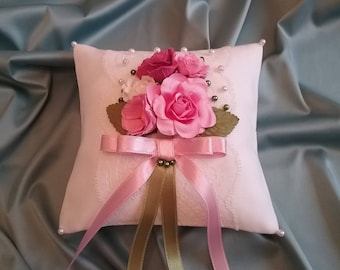 NEW Rings Bearer Pillow Wedding Bouquet/ wedding pillow with flowers/ vintage wedding