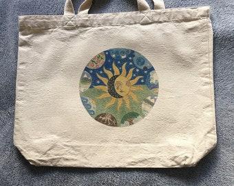 Earth mandala tote bag