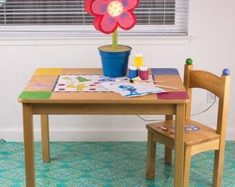 "Splat Mat/Tablecloth ""Turquoise Mind's Eye"" - Laminated Cotton BPA  & PVC Free - Choose Your Size below!"